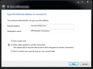 How to set up VPN step 2